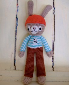 Crocheted Pirate Bunny