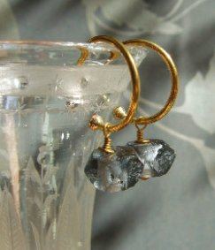 Smoky glass earrings